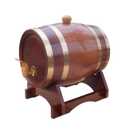 Barril de madera de roble para almacenamiento o envejecimiento de vino y licores, de 1,5 a 20 l, Chocalate Color, 5 L