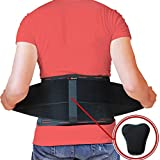AidBrace Back Brace for Lower Back Pain Relief for Men & Women - Comfortable Belt Support for Herniated Disc,...