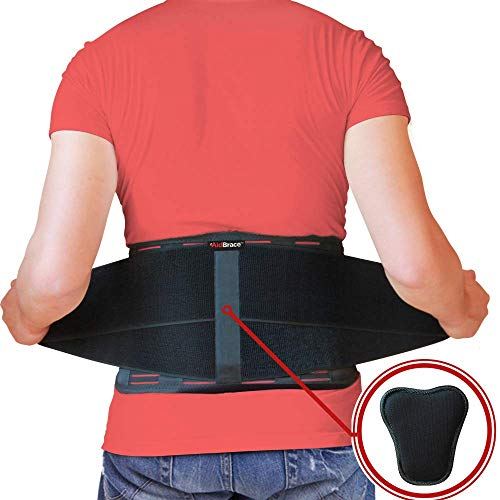 "AidBrace Back Brace Support Belt - Helps Relieve Lower Back Pain with Sciatica, Scoliosis, Herniated and Slipped Discs or Degenerative Disc Disease for Men & Women (Medium (Belly: 29"" - 36""))"