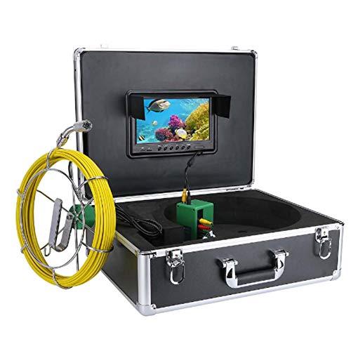 HBHYQ 9 Pouces DVR 17mm Tuyau Industriel d'inspection des égouts Système de Caméra Vidéo IP68 Caméra étanche 1000 Lignes TV avec 8pcs LED lumières 8 Go Carte SD,20m