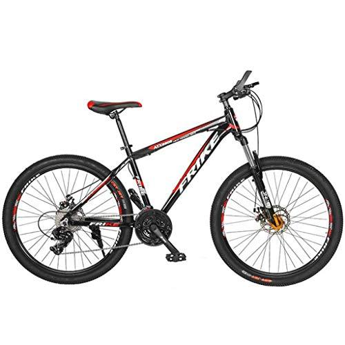 Bicicleta Montaña MTB 26 Pulgadas De Las Bicicletas De Montaña 21/24/27 Plazos De Envío Ligero De Aleación De Aluminio Marco De Suspensión Completa Del Freno De Disco - Negro Bicicleta de Montaña