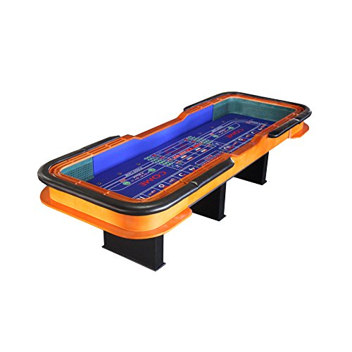 IDS 12 Foot Deluxe Craps Dice Table with Diamond Rubber Blue