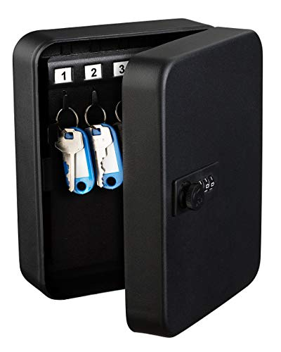 AdirOffice Steel Combination Lock Keys Cabinet Security Storage Box Organizer Holder Locked Key Box Wall Mount 30 Slots