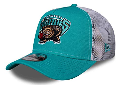 New Era - Berretto NBA Memphis Grizzlies Hardwood Classic Nights 9Forty Trucker Strapback Cap – Blu Blu Taglia unica