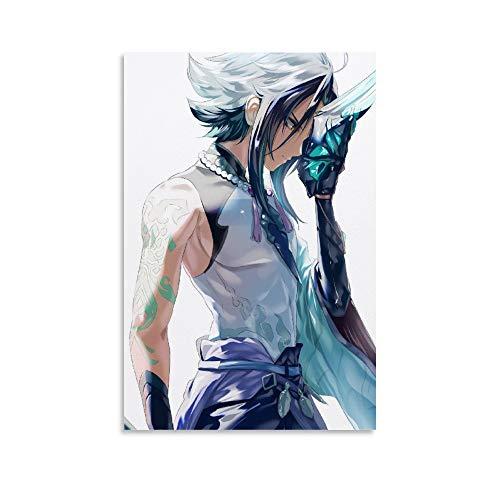 SSKJTC Arte de oficina Decoración de pared Genshin Juegos de Impacto Roles Xiao Side View Poster Cuadros sobre lienzo 30 x 45 cm