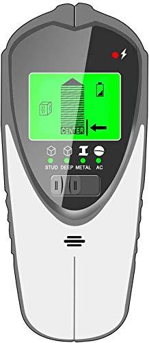 Detector de Pared, 4 en 1 Multifuncional Detector Cables y Tuberias con Pantalla LCD Retroiluminada, Stud Finder Detector de Metales Pared para Detecta Metal Tuberías Madera y AC Cable