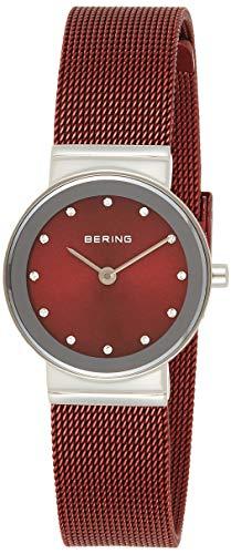 BERING Damen Analog Quarz Classic Collection Armbanduhr mit Edelstahl Armband und Saphirglas 10126-303