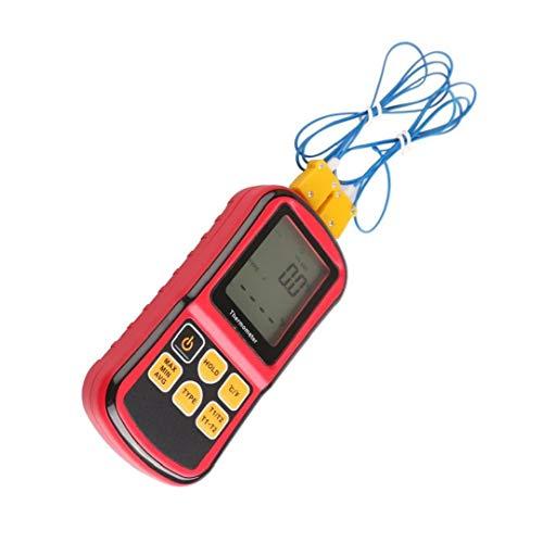 Elettronico Termocoppia Termometro Termometro digitale del sensore GM1312 a doppio canale a cristalli liquidi di temperatura del tester del tester di temperatura
