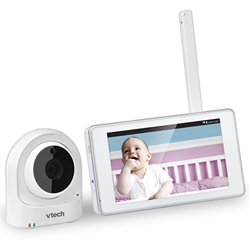 VTech VM981 Wireless WiFi Video Baby Monitor with Remote Access App, 5-inch Touch Screen, Remote Access 10x Digital Zoom, Motion Alerts & Support for up to 10 Cameras Monitors
