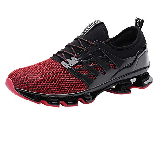 Xmiral Uomo Scarpe da Ginnastica Running Sneakers Corsa Sportive Fitness Shoes Casual all'Aperto EU:46 Rosso