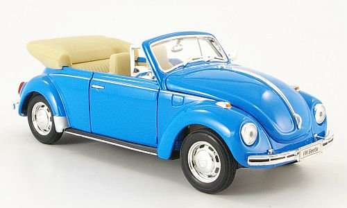 VW Käfer Cabriolet, hell-blau, offen , 1959, Modellauto, Fertigmodell, Welly 1:24