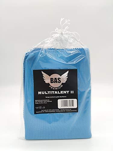 BAS Premium Filigranes Mikrofasertuch - Dekantertuch - Perfekt für den Haushalt und Auto - Reinigt alle Flächen - Reinigt auch ohne Reinigunsgmittel Glas - 50 x 70 cm