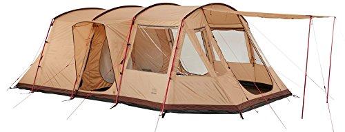 Grand Canyon Dolomiti 6 - familietent, voor 6 personen, 3 ingangen, deelbare slaapcabine, groot woonbereik, veel opbergruimte, eenvoudige opbouw, ingenaaide bodemplaat, camping, verschillende kleuren