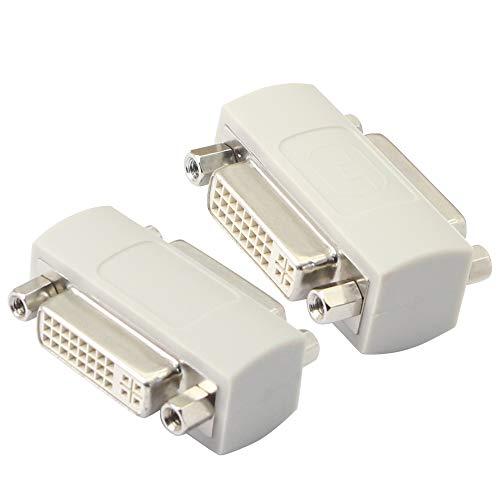 Acoplador DVI hembra a hembra, extensor de señal de cable serie DVI24+5 DVI-I, KANGPING para extender y conectar dos cables DVI(2-pack)