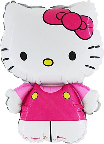 30 Cm Hello Kitty In Rosa Folie Ballon (CS136) gekleidet [Spielzeug]