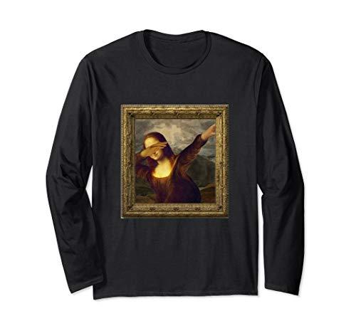 Dabbing Mona Lisa Gemälde Langarmshirt