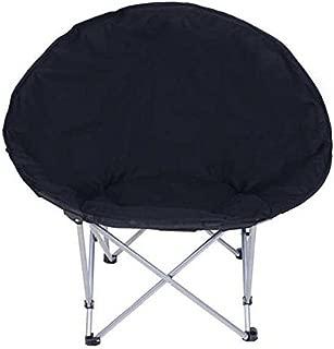 CHIMAERA Oversize Folding Padded Moon Chair (Black)