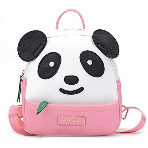 Bolsas Escolares para niños para niñas Bolso de niños Kindergarten 3-4-7 niña niño Simple Moda luz Panda Linda Escuela Mochila (Color : Small Pink)