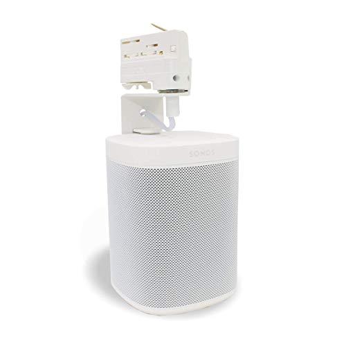 Halterung für SONOS ONE SL Lautsprecher - für 3-Phasen Stromschienen wie EUTRAC, GLOBALtrac, Ivela | Multiadapter - Plug and Play | Boxenhalterung für SONOS ONE SL Lautsprecher (Weiss)