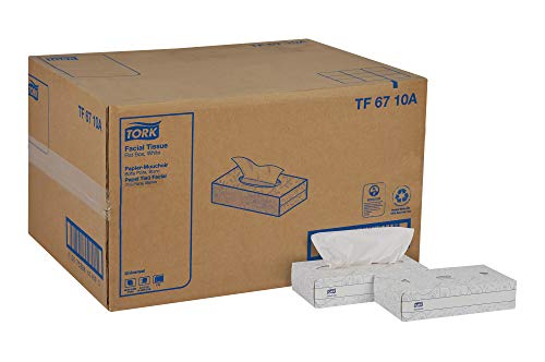 Tork Universal TF6710A Facial Tissue Flat Box 2Ply 82quot Width x 79quot Length White Case of 30 Boxes of 100 per Box 3000 Sheets