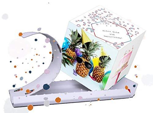 3D Geburtstagskarte mit Überraschung - Konfetti Spaß garantiert - herzlichen Glückwunsch, besondere Karte mit Konfetti