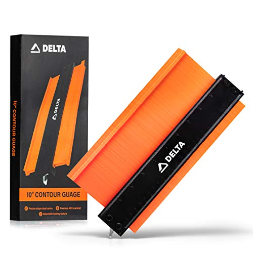 Delta Contour Gauge Profile Tool: 10 Inch Contour Shape Duplicator with Adjustable Lock - Tools for Home Improvement - Simple To Use Duplicating Scribe Tool for DIY, Woodworking, Tile Work, and More