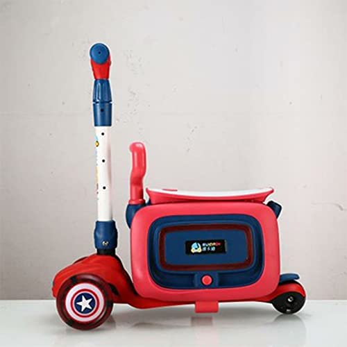 HMYLI per Bambini Valigia,Trolley Cavalcabile,Valigia Cavalcabile per Bambini,con Musica e luci Colorate,Regali per Bambini,Rosso