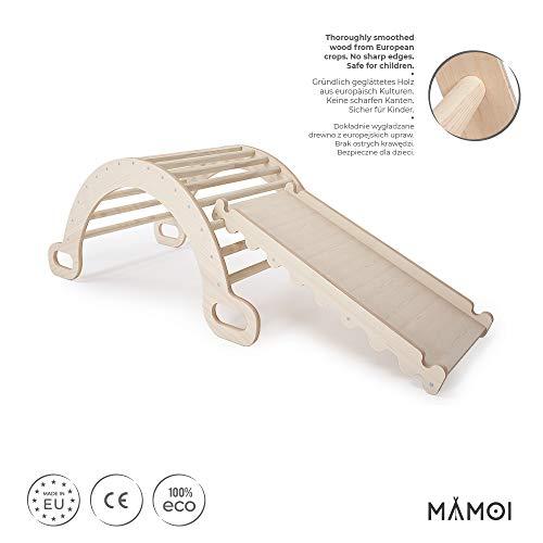 MAMOI Triangle Gym Dreieck mit Rutsche Kletter Wippe Holz Natürliche Materialien - 2