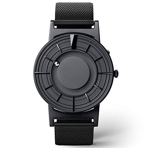 Herrenmode Casual Series-Uhr-Doppelstahlkugel ohne Zeiger Konzept-Uhr-Quarz-römische Ziffern Rund einfache Dial Geschenk-Kasten