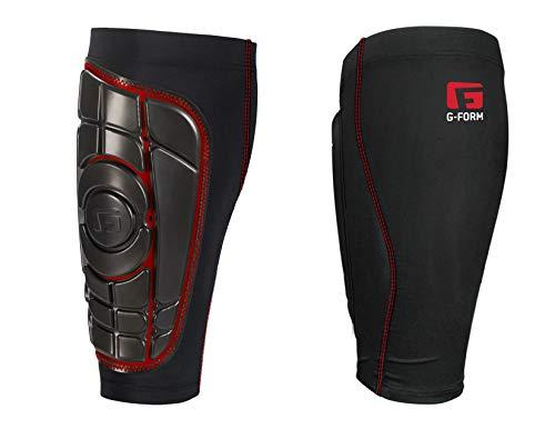 G-Form Espinilleras Pro-S Elite, negro/rojo, XL