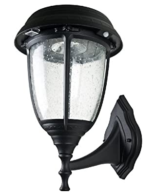 XEPA 300 Lumen Outdoor Black Solar LED Lamp with 3 inch Fitter Mount and Stay on Function