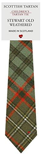 I Luv Ltd Garçon Tout Cravate en Laine Tissé et Fabriqué en Ecosse à Stewart Old Weathered Tartan