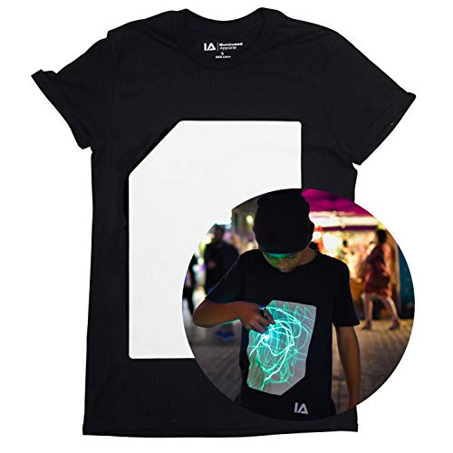 Illuminated Interaktive Leucht T-Shirt Herren