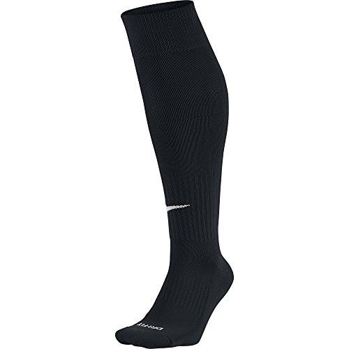 NIKE Unisex Academy Over-The-Calf Soccer Socks, Black/White, Medium