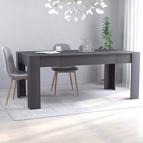 vidaXL Esstisch Minimalistischer Stil Elegant Küchentisch Esszimmertisch Speisetisch Tisch Esszimmer Küche Grau 180x90x76cm Spanplatte