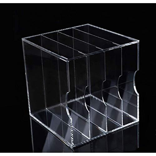 Soporte para discos de vinilo LP acrílico, salón de baile, bar, restaurante, estante de almacenamiento de CD translúcido alto, caja de discos de vinilo no ensamblada (color: transparente, tamaño: 34