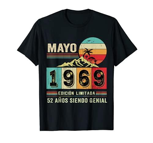 Nacido en Mayo de 1969 52 Años Cumpleaños Regalo para hombre Camiseta