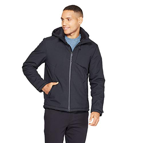 Champion C9 Men's Sherpa Hooded Softshell Jacket - (Black, Small)