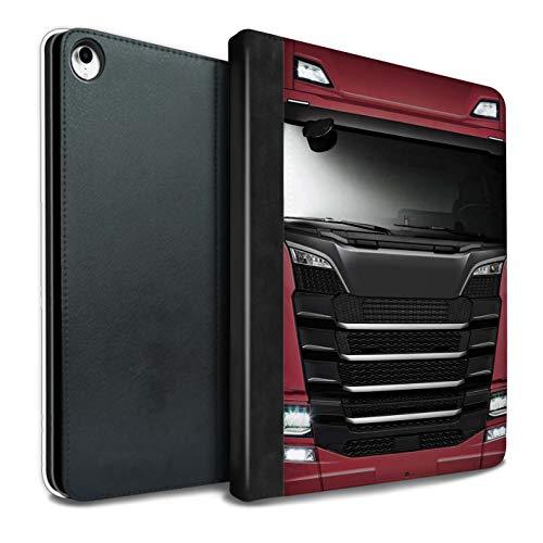 AutoCommerse Juego de Fundas de Asiento para cami/ón y HGV 2 Piezas para CF XF 105 Euro 5 LHD Color Negro y Negro