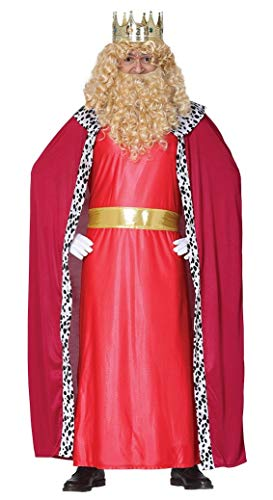 GUIRMA- Disfraz del Rey Magio Gaspar, Color Rojo, L (52-54) (41686)