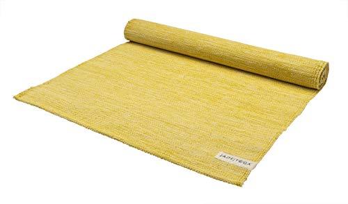 JadeYoga Mysore Yoga-Teppich, Bio-Baumwolle, Kurkuma (Gelb)