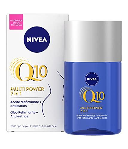 NIVEA Q10 Multi Power 7in1 Aceite Reafirmante + Antiestrías (1 x 100 ml), reafirmante corporal para reducir estrías y conseguir un tono de piel uniforme