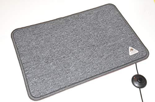 Heatmaster Heizteppich 150 Watt anthrazit/grau, 90x60 cm, beheizbare Heizmatte elektrisch, Ideal für warme Füße, Fußheizung Büro, Infrarot Heizteppich Wohnwagen