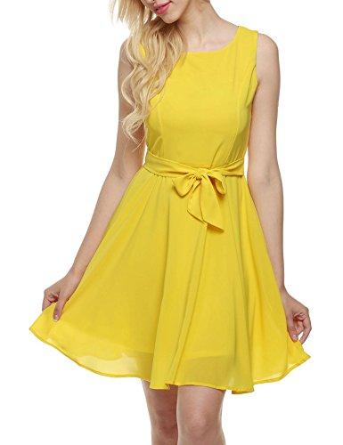 Vestido amarillo elgantes para bodas y celebraciones