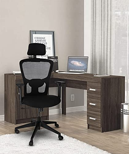 KrissKross® High Back Mesh Office Chair Made with Glass Filled Nylon for Office & Home (Black)