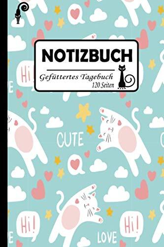 Notizbuch: Gefüttertes Tagebuch   Katzennotizbuch   Perfekt als Zeichenbuch, Skizzenbuch, Blankobuch, Leeres Tagebuch   A4-Format, 100+ Seiten