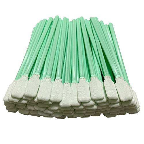 OIF 100pc 5.1' Square Rectangle Polyester Cleaning Swab Sticks for Solvent Format Inkjet &Thermal Printers, Optical Lens, Camera Sensors, Roland Optical Equipment, Electronics, PCB Cleaning Swab