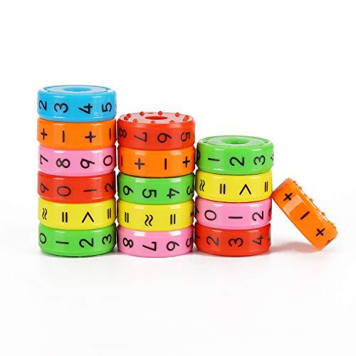 Ulikey 3 Stück Rechenrolle Mathematik Lernspielzeug, Magnetisches Lernspiele Spielzeug zum Rechnen Lernen Rubiks Würfel Spielzeug Kinder Intelligenz Belohnung Spielzeug Kindergeschenke