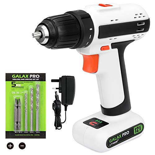 GALAX PRO Drill, 12V 2 Speed Light Weight Cordless Drill,...