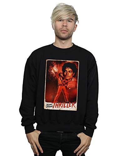 Absolute Cult Michael Jackson Herren Thriller Stance Sweatshirt Schwarz X-Large